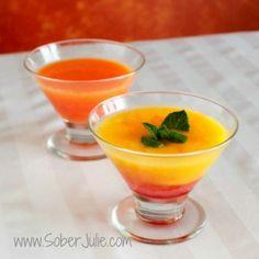 Strawberry Mango Mocktail by SoberJulie.com #Mocktail #Drink #DrinkRecipe