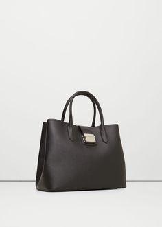 Saffiano-effect tote bag - Bags for Women | MANGO USA