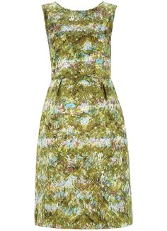 Emily Print Sixties Style Dress in Bright Apple