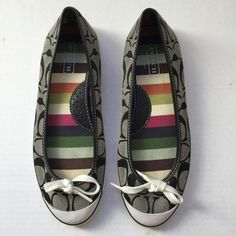 Coach Shoes Coach shoes in perfect condition - only worn once. 100% authentic. Size 7.5 - 10 inches heel to toe. K132 Coach Shoes Flats & Loafers