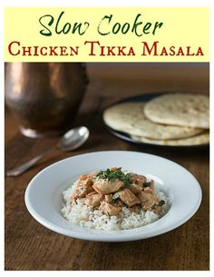 A very simple recipe for chicken tikka masala made in a slow cooker plus the fascinating food history of the dish.  | ethnicspoon.com