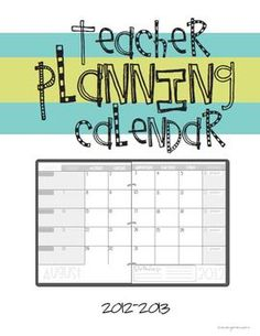 FREE 2012-2013 Planning Calendar Template (July 2012 - July 2013)