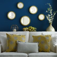 Circle Mirror Set Of 5 In 2019 Living Room Mirrors