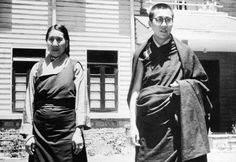 HH Dalai Lama and his mother at Birla House Mussoorie in 1959. India