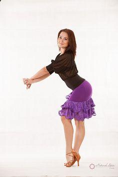 Natural Spin Signature Dance Tops(Short Sleeve):  LT62_Black
