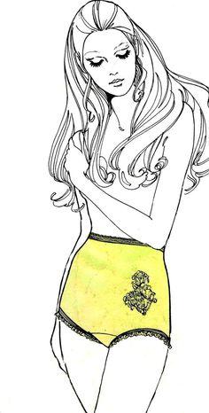 1970s Sew Lovely P500 Ladies Briefs Underwear by patternshop, $8.99