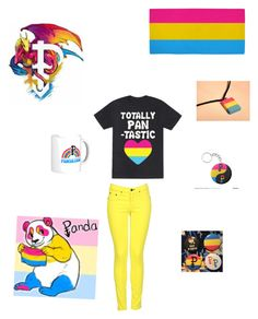 """Pansexual pride"" by xxscenederellaxx ❤ liked on Polyvore featuring rag & bone"