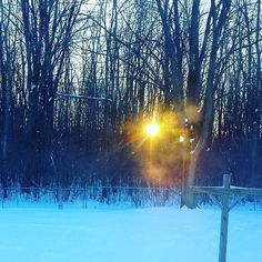 Wintry sunrise behind Casa Jaquandor #brrr #winter #wny