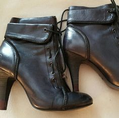 "BRONX ladies boots Very comfortable boots great design, zip up and ties, 4 "" heel Bronx  Shoes Heeled Boots"