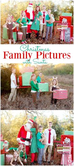 Christmas Family Picture idea with Santa and his helpers!  Capturing-Joy.com
