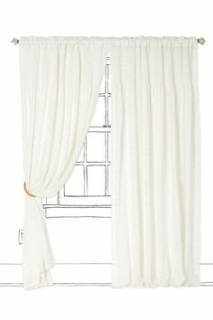 White with silver spots curtains