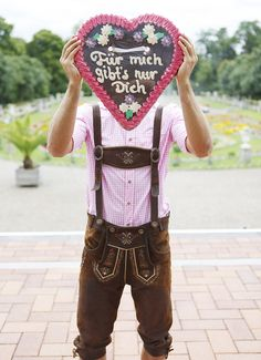 Für mich gibt's nur Dich #Lebkuchenherz #Trachten #Lederhose #Herz