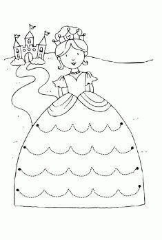 Prenses Çizgi çalışma sayfası. Line worksheets. Líneas de trabajo. Линейные листы.