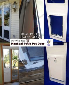 1000 images about temporary pet doors patio window for Best energy efficient patio doors