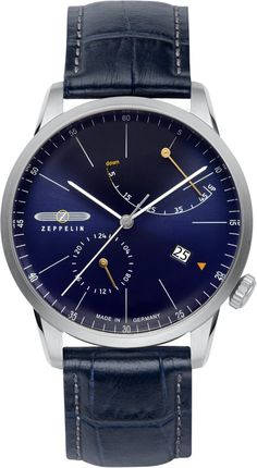 Zeppelin Watch Flatline #bezel-fixed #bracelet-strap-leather #brand-zeppelin #case-depth-12mm #case-material-steel #case-width-40mm #classic #date-yes #delivery-timescale-call-us #dial-colour-blue #gender-mens #movement-automatic #official-stockist-for-zeppelin-watches #packaging-zeppelin-watch-packaging #power-reserve-yes #style-dress #subcat-flatline #supplier-model-no-7366-3 #warranty-zeppelin-official-2-year-guarantee #water-resistant-50m