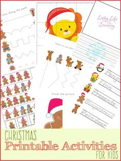 Fun Christmas printables for kids - great for preschool or kindergarten students