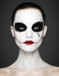 fasching schminken schminktipps in schwarz weiß                                                                                                                                                                                 Mehr