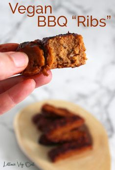 Learn how to make delicious vegan ribs with jackfruit seitan for the ultimate texture. This simple vegan recipe for BBQ seitan ribs is packed with flavor and protein; the perfect vegan dinner recipe. #Vegan #VeganMeat #VeganRibs #VeganGrilling #VeganBBQ #BBQ #Seitan #Jackfruit #Meatless #MeatFree #Vegetarian #VegetarianMeat #VeganRecipe #VeganDinner #VeganProtein #PlantBasedProtein #Grilling #Barbecue