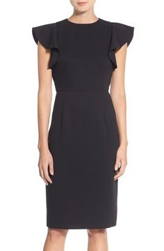 Chelsea28 Flutter Sleeve Stretch Sheath Dress available at #Nordstrom