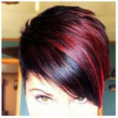 Color The post Color appeared first on Peinados. Fall Hair Colors, Red Hair Color, Cool Hair Color, Funky Short Hair, Short Hair Cuts For Women, Short Hair Styles, Sassy Hair, Haircut And Color, Hair Affair