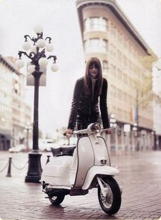 Photo: Vespa and leather (via maryarden)