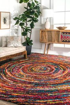 Rugs USA Multi Radiance Swirl rug - Bohemian Rectangle 3 3 x 5 Living Room Decor, Bedroom Decor, Wall Decor, Bedroom Ideas, The Golden Girls, Home Design, Interior Design, Bohemian Furniture, Bohemian Interior