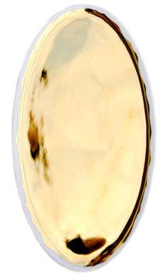 Gold Glazed Porcelain Platter