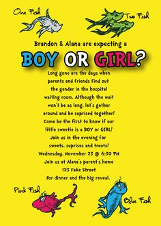 Our gender reveal party invitation :)
