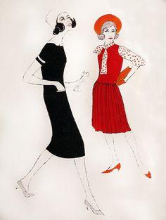 Andy Warhol fashion sketch