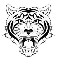Tiger Head — Stock Illustration #58432441
