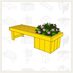 Build a Planter Bench - Free Project Plan: McCoy's Building Supply to proud to sell Yellawood products. Diy Furniture Building, Cool Furniture, Outdoor Furniture Sets, Diy Craft Projects, Wood Projects, Diy Crafts, Modern Backyard, Backyard Ideas, Garden Ideas