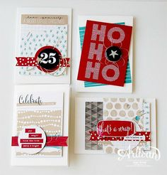 Hello December Project Life Card Collection, Hello December Project Life Accessory Pack, Whisper White Note Cards and Envelopes - Inge Groot-