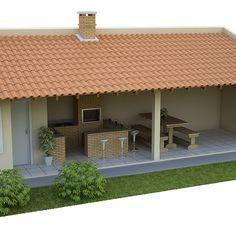 Imagem relacionada Barbecue Design, Grill Design, Village House Design, Village Houses, Pool House Designs, Backyard House, Backyard Seating, Home Design Decor, Future House