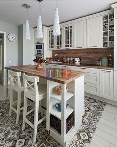 Cozy Kitchen, Home Decor Kitchen, Rustic Kitchen, Kitchen Interior, New Kitchen, Home Kitchens, Kitchen Island, Kitchen Ideas, 10x10 Kitchen