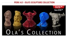 3D-Printed Sculpture Collection by Ola Sundberg  #3dprinting #3dprinted #sculptures #design