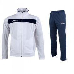 Melegítő Asics Suit Team 2 garnitúra fehér,tengerészkék unisex Team 2, Asics, Nike Jacket, Athletic, Unisex, Jackets, Suit, Fashion, Moda