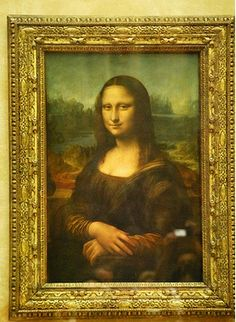 The masterpiece, da Vinci's Mona Lisa: Louvre Museum,Paris