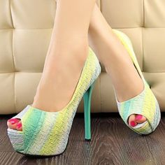 Women's Pointed Toe Platforms Stilettos High Heel Fashion Party Shoes and Wedding Shoes Rose Red Green Shoes
