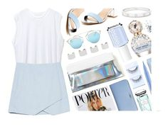 """Asymmetric Skirt"" by monmondefou ❤ liked on Polyvore featuring mode, Mixx Shuz, By Terry, Christian Dior, Maison Margiela, Essie, Stila, Fendi, First Aid Beauty en Topshop"