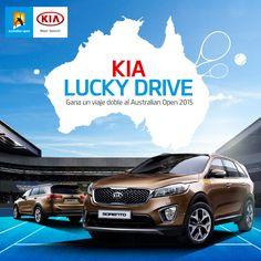Tú y un amigo podrán estar en la semifinal del Australian Open 2015 con #Kia. Conoce cómo en www.kia.com.co