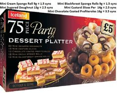 Iceland Party Food Slimming World Syn Values, Slimming World Free, Slimming World Syns, Slimming World Recipes, Iceland Party Food, Iceland Slimming World, Slimmimg World, Dessert Platter, Christmas Party Food