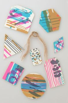 Assortment of Neon Gift Tags by Jenny Pennywood | at Amelia