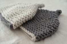 Chunky soft wool and cashmere toddler hat  dark by GrisHandknits