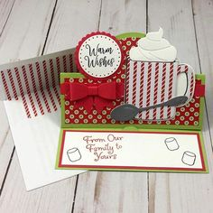 The Stamps of Life (@stampsoflife) • Instagram photos and videos Fun Fold Cards, Pop Up Cards, Folded Cards, Homemade Christmas Cards, Stampin Up Christmas, Holiday Cards, Christmas 2019, Christmas Themes, Coffee And Donuts