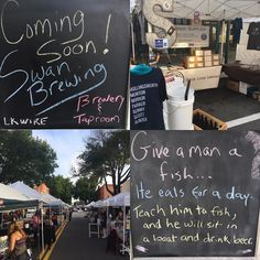 #Market day! We're @lkldcurbmarket until 2pm today along with @patriotcoffeeroasters @mud_and_glass_studio @krazykombucha @wooksbeefjerky and all of your other favorites! #drinklocal #craftbeer #lovelakeland #comingsoon #swanbrewing #homebrew