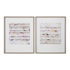Lined Abstract Wall Art, Set of 2