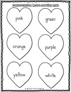 candy heart worksheet | Valentines Day in the classroom ...