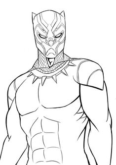 Black Panther Superhero Coloring Pages To Print