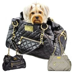 Classic Designer Tote Dog Purse Carrier | Dogs of Glamour