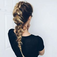 Sep 2018 - Beautiful braids that inspire my creativity. See more ideas about Long hair styles, Hair inspiration and Hair styles. Messy Hairstyles, Pretty Hairstyles, Summer Hairstyles, Hair Inspo, Hair Inspiration, Fashion Inspiration, Good Hair Day, Hair Dos, Gorgeous Hair